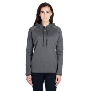 1295300 Under Armour Ladies Double Threat Armour Fleece Hoodie